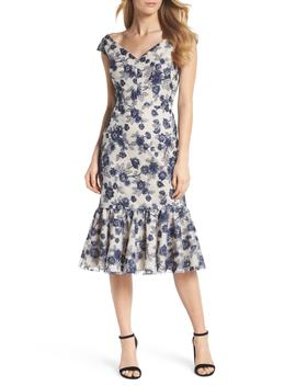 Rosemary Floral Embroidered Midi Dress by Gal Meets Glam
