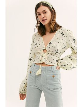 La Rose Embroidered Blouse by Free People
