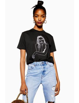Sketch Girl T Shirt By Tee And Cake by Topshop