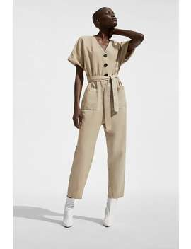 Buttoned Jumpsuit by Zara