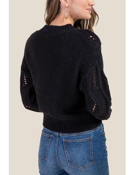 Kaylie Whipstitch Sweater by Francesca's