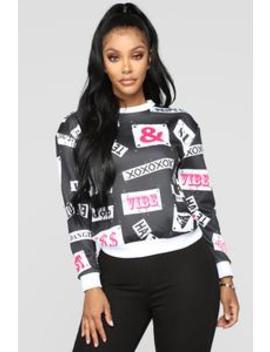 No Labels Sweatshirt   Black/Combo by Fashion Nova