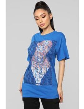 One In A Million Top   Blue by Fashion Nova