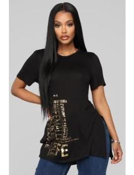 Future Is Golden Top   Black by Fashion Nova
