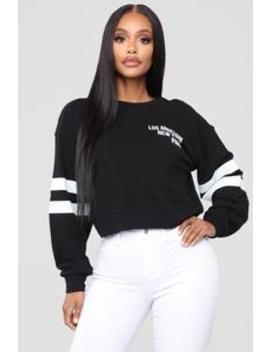 La To Paris Sweatshirt   Black by Fashion Nova