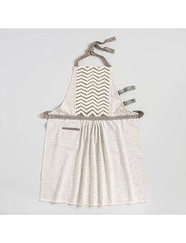 Gray Chevron Striped Twill Apron by World Market