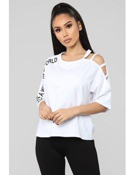 It's A Woman's World Tunic Top   White by Fashion Nova