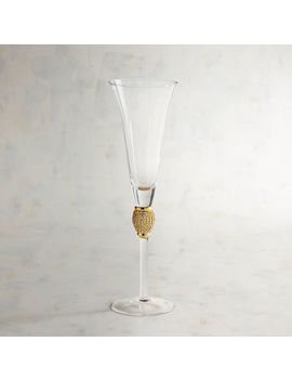 Gold Champagne Flute by Jewel Collection
