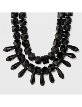 Sugarfix By Bauble Bar Monochrome Statement Necklace   Black by Sugar Fix By Bauble Bar