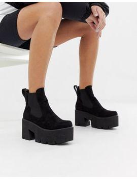 Lamoda Black Chunky Platform Chelsea Boots by Lamoda