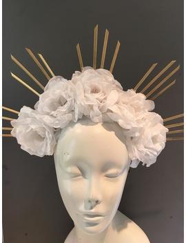 White Flower Headband  Diner En Blanc  Flower Crown by Etsy