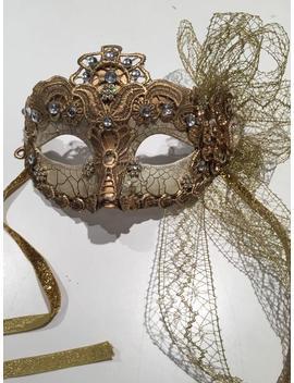 Gold Masquarade Mask  Mardi Gras by Etsy