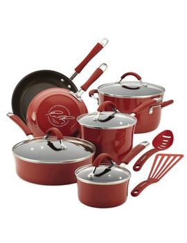 Rachael Ray™ Cucina 12 Piece Hard Enamel Cookware Set In Sea Salt Grey by Bed Bath And Beyond