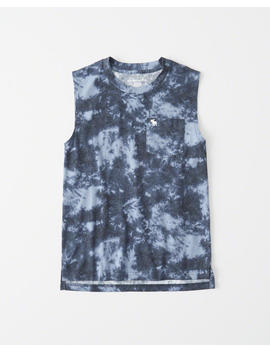 Patterned Muscle Tank by Abercrombie & Fitch