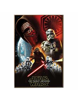 Silver Buffalo Se9936 Disney Star Wars Ep7 Villain Group Poster Wood Wall Art, 13 X 19 Inches by Star Wars