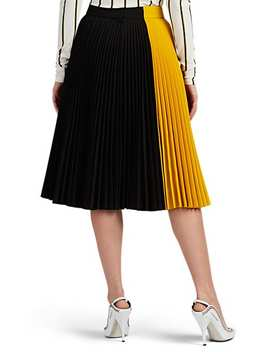 Colorblocked Twill Pleated Skirt by Calvin Klein 205 W39 Nyc