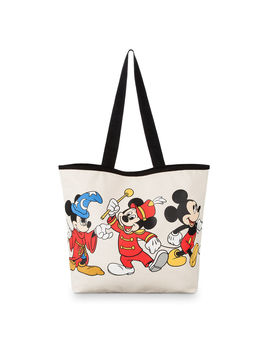 Mickey Mouse Through The Years Canvas Tote Bag by Disney