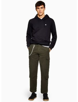 Olive Moleskin Trousers by Topman