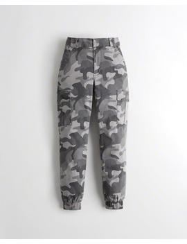Ultra High Rise Twill Joggers by Hollister