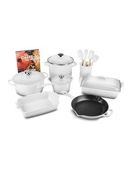 Le Creuset 16 Piece Cookware Set (White) by Le Creuset