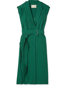 Wrap Effect Layered Crepe Dress by Jason Wu