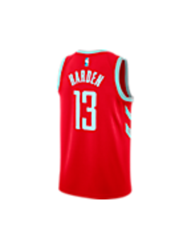 Men's Nike Houston Rockets Nba James Harden Icon Edition Connected Jersey by Nike