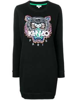 Tiger Embroidered Sweatshirt Dress by Kenzo
