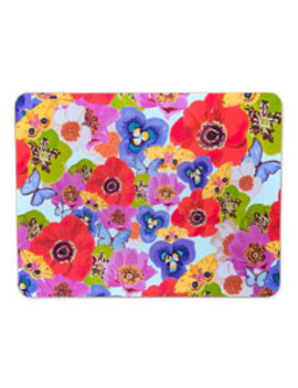 Flowers Butterflies Placemat by Ashley Longshore