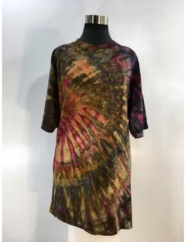 Xl Tie Dye Bamboo/Organic Cotton Unisex T Shirt In Earthy Tones. by Etsy