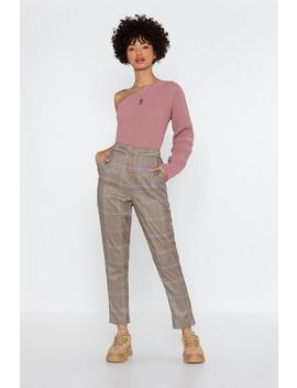 Check The Party Tapered Pants by Nasty Gal
