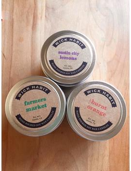 Pick Any Three 4oz Soy Candles by Etsy