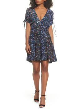 Aubine Tie Sleeve Fit & Flare Dress by French Connection