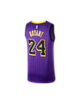 Men's Nike Los Angeles Lakers Nba Kobe Bryant City Edition Connected Jersey by Nike