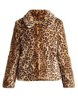 Junior Leopard Print Faux Fur Jacket by Shrimps