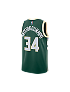 Men's Nike Milwaukee Bucks Nba Giannis Antetokounmpo Icon Edition Connected Jersey by Nike