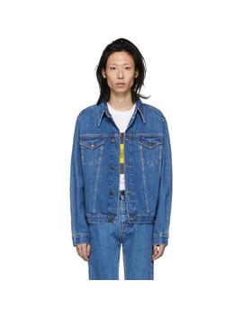 Blue Denim Trucker Jacket by Calvin Klein Jeans Est. 1978