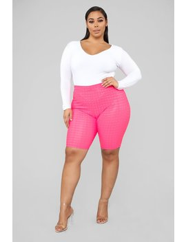 What A Girl Wants Biker Shorts   Pink by Fashion Nova