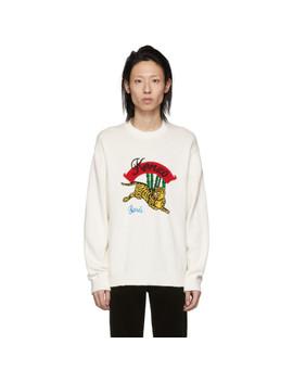 White Bamboo Tiger Sweatshirt by Kenzo