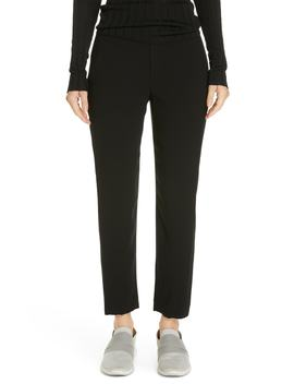 Satin Stripe Ankle Pants by Vince