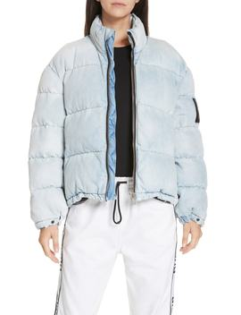 Bleach Denim Puffer Coat by Alexanderwang.T