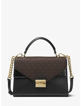 Sloan Leather And Logo Satchel by Michael Michael Kors