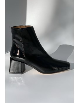 Loq Lazaro Crinkle Patent Boot   Negro by Garmentory