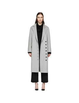Grey Double Feather New Signe Coat by Joseph