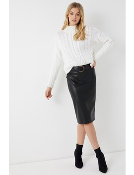 Lipsy Faux Leather D Ring Pencil Skirt by Next