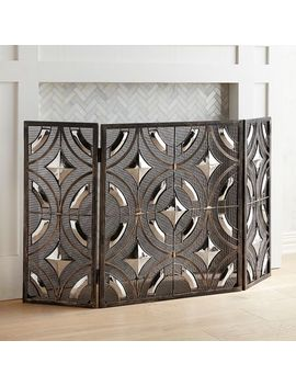 Bronze Ryder Reflective Fireplace Screen by Pier1 Imports