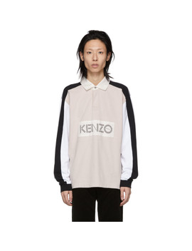 Off White Colorblock Logo Polo by Kenzo