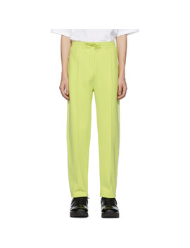 Yellow Logo Track Lounge Pants by Kenzo