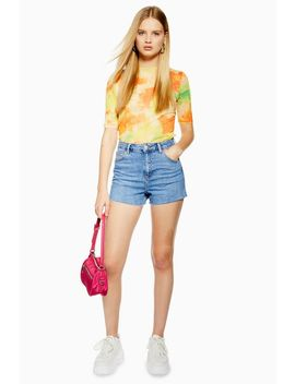 Premium Denim Mom Shorts by Topshop