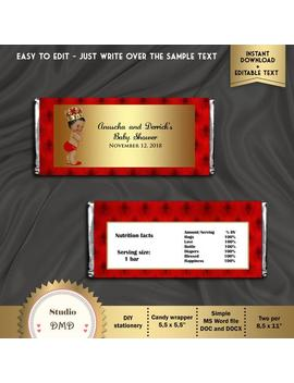 Printable Candy Bar Wrapper, Little Prince, Royal Baby Shower, Hershey's Chocolate Wrapper, Red, Boy, Editable Text, Instant Download, Bbs03 by Etsy
