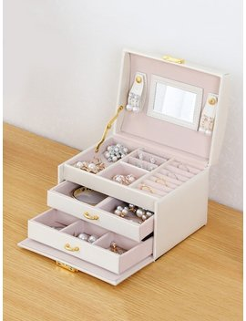 3 Layer Jewelry Storage Box by Sheinside